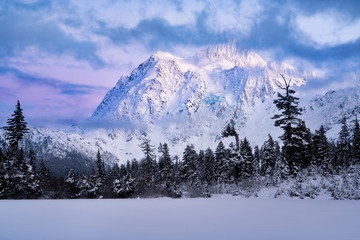Mount Shuksan and Picture Lake in Baker Wilderness