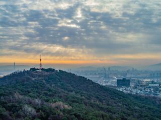 ソウル江南の夜明け