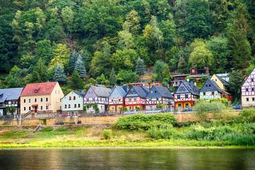 Deutsche small town Postelwitz