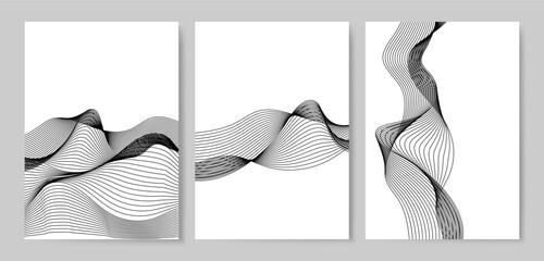 Data visualization dynamic wave pattern vector Wall mural