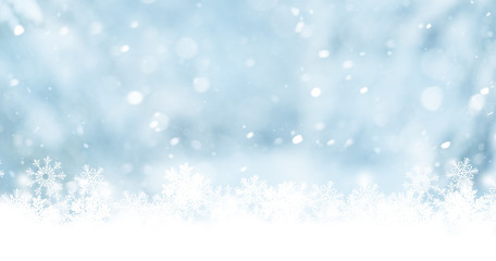 a winter background with  snowflakes