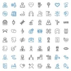 human icons set