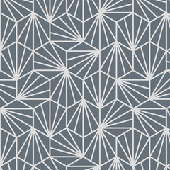 Japanese Grey Geometric Pattern