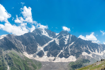 Landscape of mountains in sunny weather. Caucasus