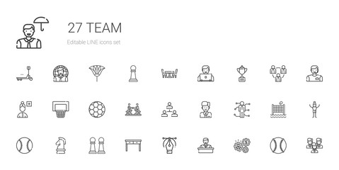 team icons set