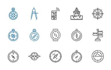orientation icons set