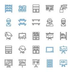 teaching icons set