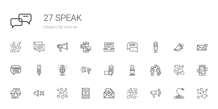 speak icons set