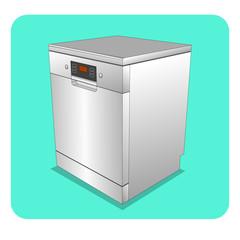 dishwasher 3D illustration
