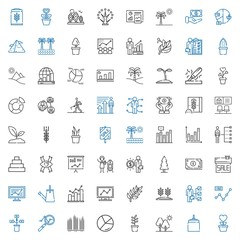 growth icons set