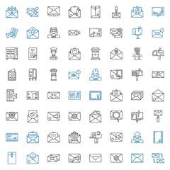 postage icons set