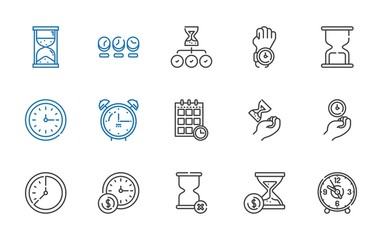 minute icons set