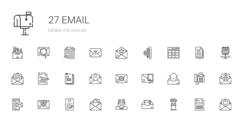 email icons set