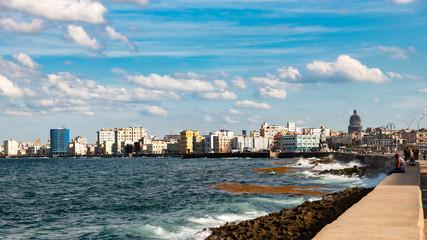 Malecon blick auf Havanna Kuba