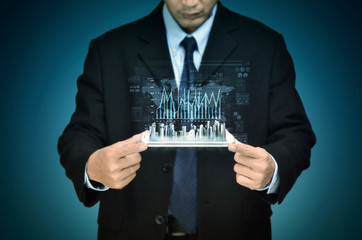 Wall Mural - Internet Business Finance