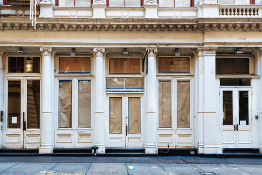 Luxury old storefront in remodeling in New York