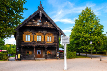 Potsdam, Germany - Traditional historic Russian housing architecture in the Alexandrowka colony of XIX century immigrants