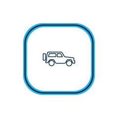 Vector illustration of suv icon line. Beautiful transport element also can be used as jeep icon element.