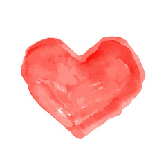 water colour red heart