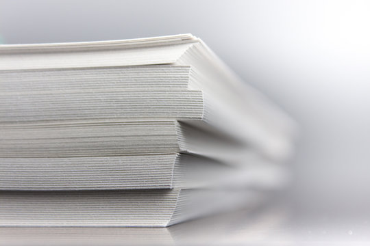 Stacked paper book