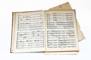 Musiknoten, Notenbuch, alt, vintage