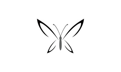 simple lineart butterfly