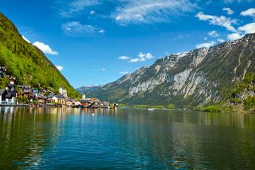 Fototapete - Hallstatt village, Austria