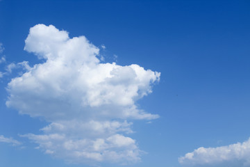 Blue sky with white clouds. Background