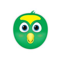 Illustration of Bird head cartoon vector