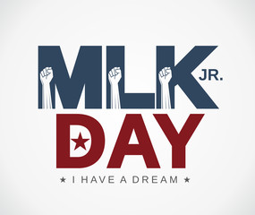 Mlk Day poster. Martin Luther King Jr. day. I have a dream. Vector illustration.