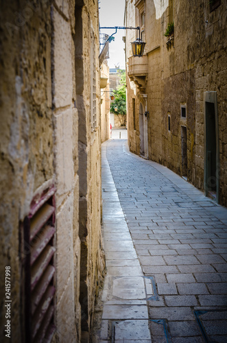 Alleys of Mdina, Malta, the silent city