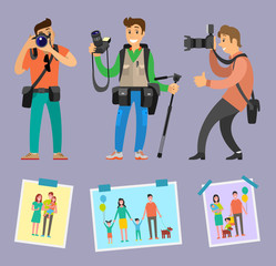 Modern Photographers with Professional Equipment