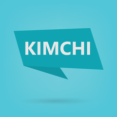 kimchi word on a sticker- vector illustration