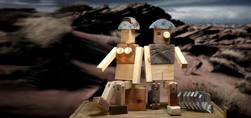 wooden toy Fototapete