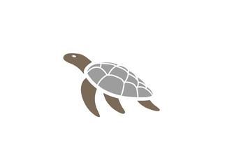 Turtle Swimming Logo