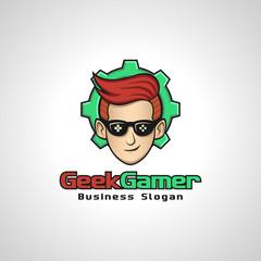 Geek Gamer is a gamer Hobbies Logo or Logo for Gamer