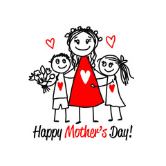 Happy mother's day. Greeting card design
