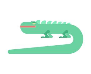 Lizard cartoon style isolated. Varan reptile vector illustration
