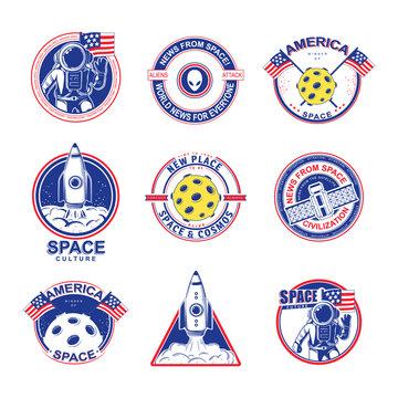 Cosmos set illustration