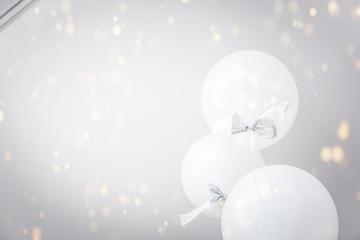 White balloons.
