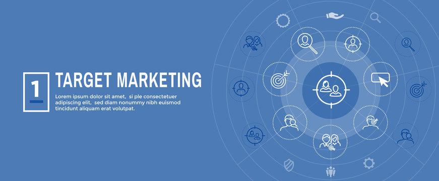 Target Marketing Icon Set and Web Header Banner