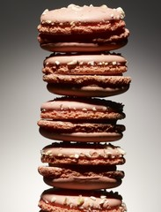 Close up of stack of macaroons
