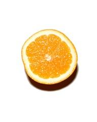 Slice of sweet lemon isolated against white background