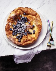 Close up of crostata served on plate