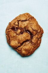 Cookie isolated on blue background