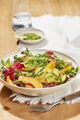 Close up of salad served on bowl