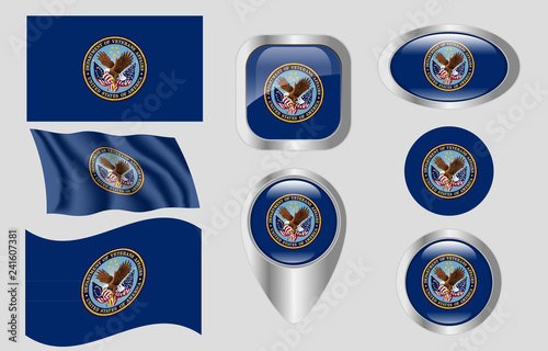Flag Of The Us Department Of Veterans Affairs Stock Image And