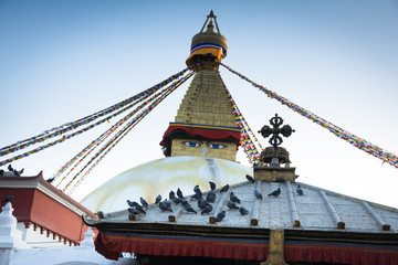 Boudhanath stupa the biggest buddhist stupa in Kathmandu city - Nepal