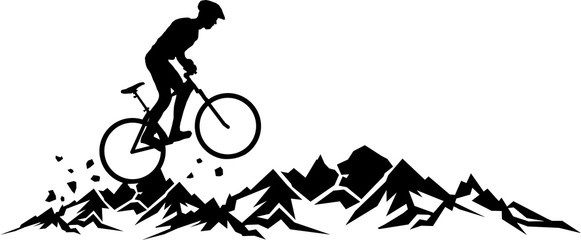 Mountain Bike Landscape Wall mural