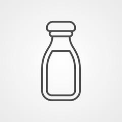 Milk vector icon sign symbol